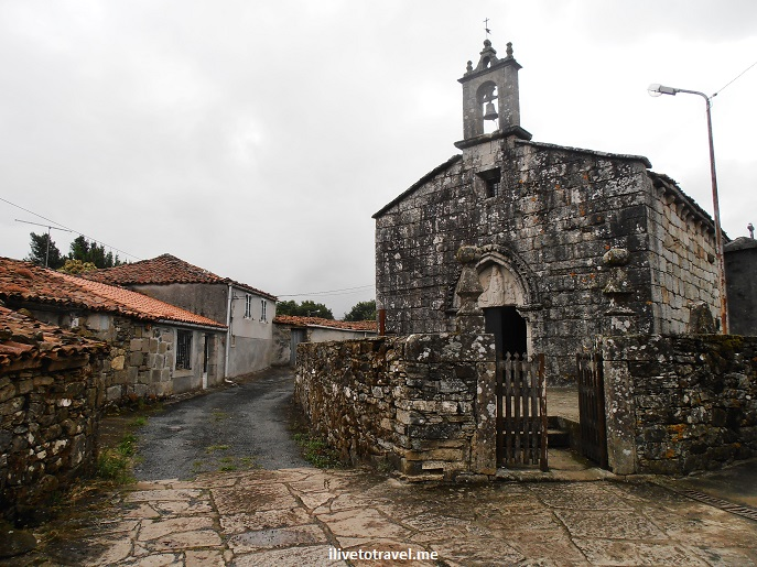 Camino, Santiago, Spain, church, small town, village, Olympus, photo, travel, The Way, facade