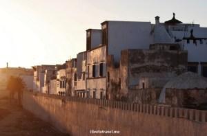 Old Medina, city walls, sunset, Essaouira, Morocco, market, goods, colorful, travel, photo, Olympus