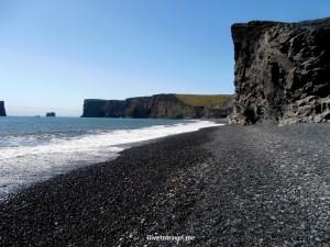 Dyrholaey, peninsula, Atlantic Ocean, Iceland, black sand, lava rocks, volcanic, travel, photo, Olympus