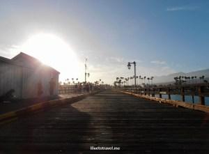 sunset, Santa Barbara, pier, California, photo, travel, Olympus