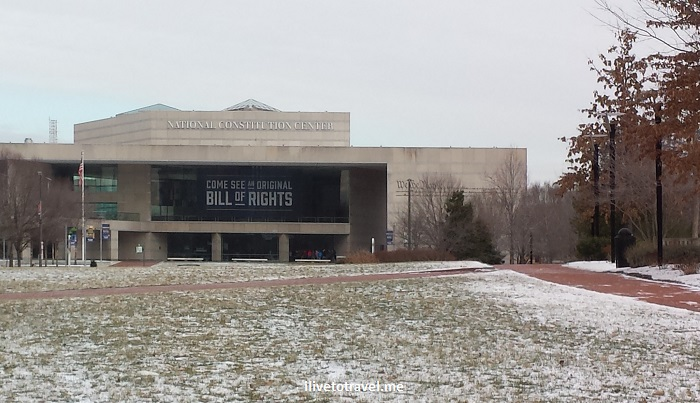 Constitution Center, snow, Philadelphia, Pennsylvania, travel, photo, Samsung Galaxy