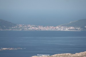 The town of Finisterre from a distance