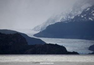 Grey glacier, where we hiked