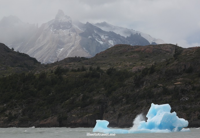 Grey, glacier, Chile, Patagonia, tourism, travel, photo