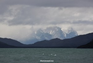 A view of the Torres del Paine from afar - awesome!