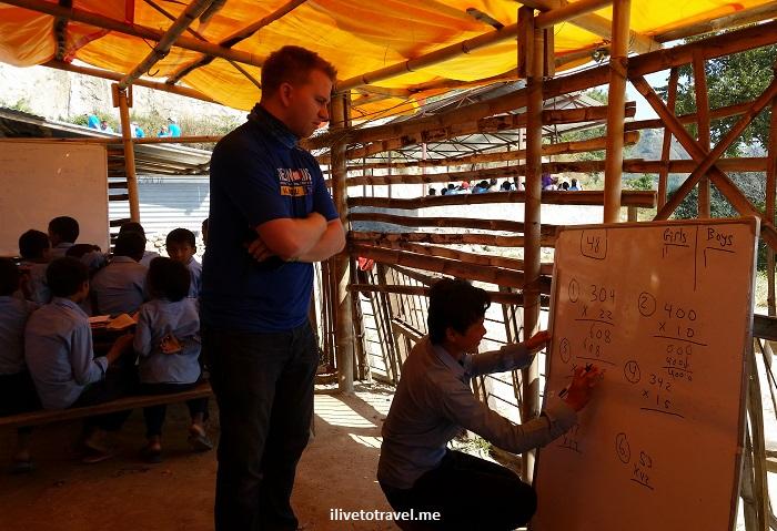 Nepal, Kumari, Nuwakot, school, Trekking for Kids, voluntourism
