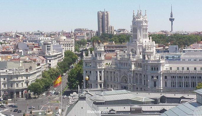Azotea, Correos, Palacio de Comunicaciones,Bellas Artes, rooftop bar, rooftop terrace, Madrid, Spain, nightlife, photo, Samsung Galaxy