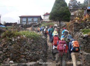 Approaching a hamlet