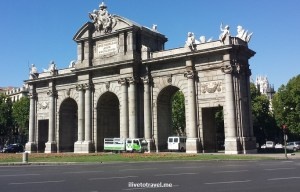 Puerta de Alcalá, Madrid, Spain, arch, architecture, tourism, travel, photo
