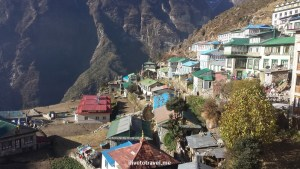 Namche Bazaar from the dining room