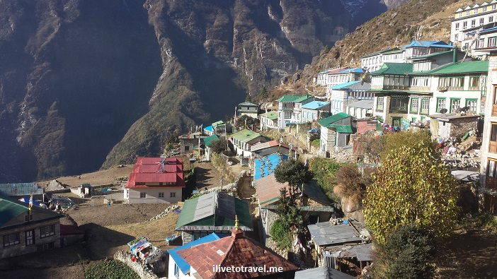 Nepal, Namche Bazaar, Himalayas, Everest, EBC, town, mountains, photo, Samsung Galaxy