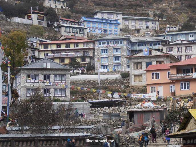 Nepal, Namche Bazaar, Himalayas, Everest, EBC, town, mountains, photo, Samsung Galaxy