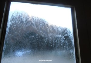 Yeah, that's our ice-covered window in the morning...