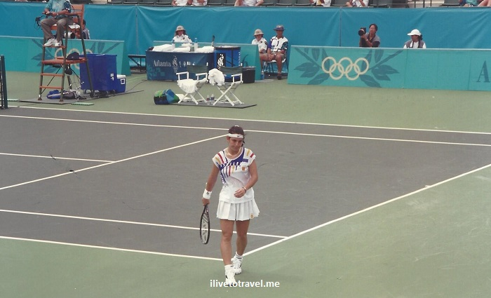 Arantxa Sanchez-Vicario, tennis, Atlanta, 1996 Olympics, Olympic Games, photo