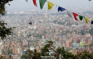 Sweeping view of Kathmandu - and a passing bird!