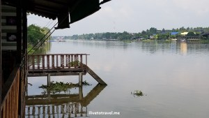 View of the Mae Klong River from the restaurant