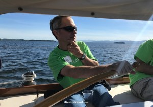 Lake Champlain, sailboat, Vermont, blue sky, peaceful, beautiful, ilivetotravel