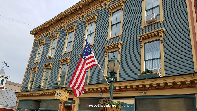 Bristol, Vermont, travel, photo, explore, charm, US flag