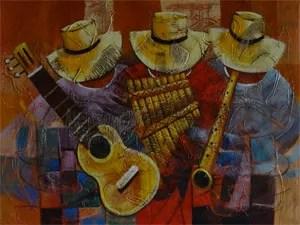 Peruvian Painting in Hostel