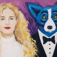 Two works by George Rodrigue recovered in the Quarter