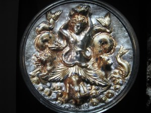 "A detail from one of the 16 pieces of the ""Morgantina Silver"""