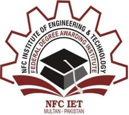 NFC University Multan Admission 2015