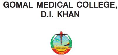 Gomal Medical College MBBS Merit List 2015