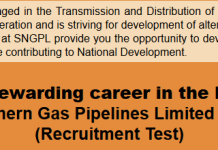 SNGPL Sui Gas Jobs NTS Test Result 2015 Answer Keys