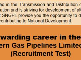 SNGPL Sui Gas Jobs NTS Test Result 2015 Answer Keys