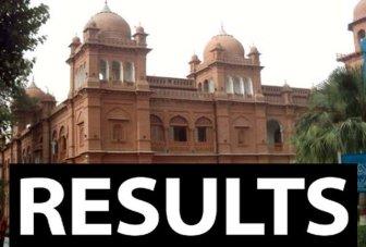 Punjab University PU MA, MSc Part 1, 2 Result 2015