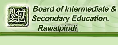 BISE Rawalpindi Board Inter Part 1, 2 Date Sheet 2016