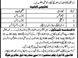government polytechnic institute women peshawar admissions 2015 Form