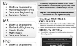 HITEC University Taxila Admission 2016 Form, Date, Eligibility