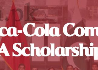 Cocacola Pakistan MENA Scholarships 2016 Apply Online Registration Date