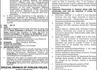 PPSC Latest Jobs June 2016 Advertisement, Application Form Date