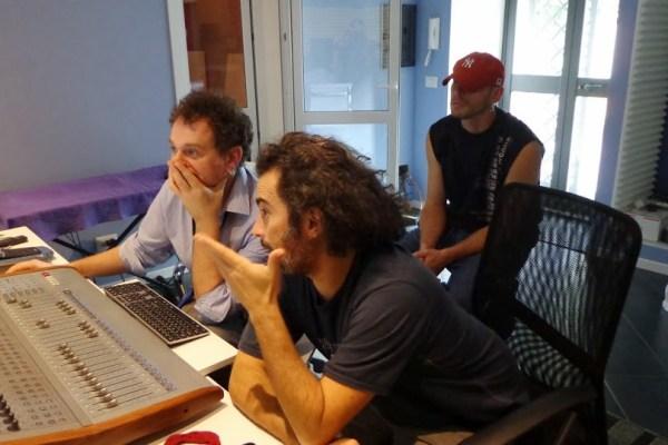 In studio con Carlo e Riccardo