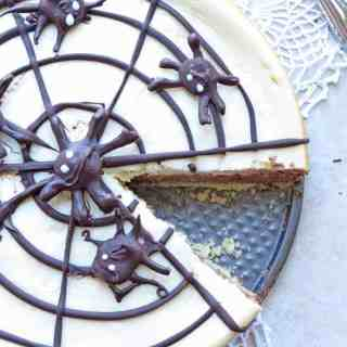 Impress your guests with Spider Web Double Decker Cheesecake by ilonaspassion.com