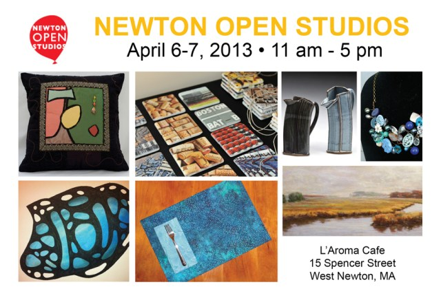 Newton Open Studios, Newton MA, art showings, L'Aroma Cafe