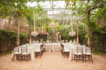 Green Wedding Reception idea