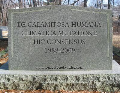 Here (Lies) the consensus on a catastrophical climate change of human origin