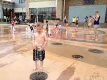 Logan in the Fountains