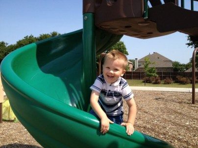 Logan on the Slide