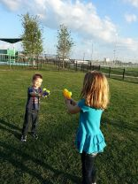 They gave them water guns!