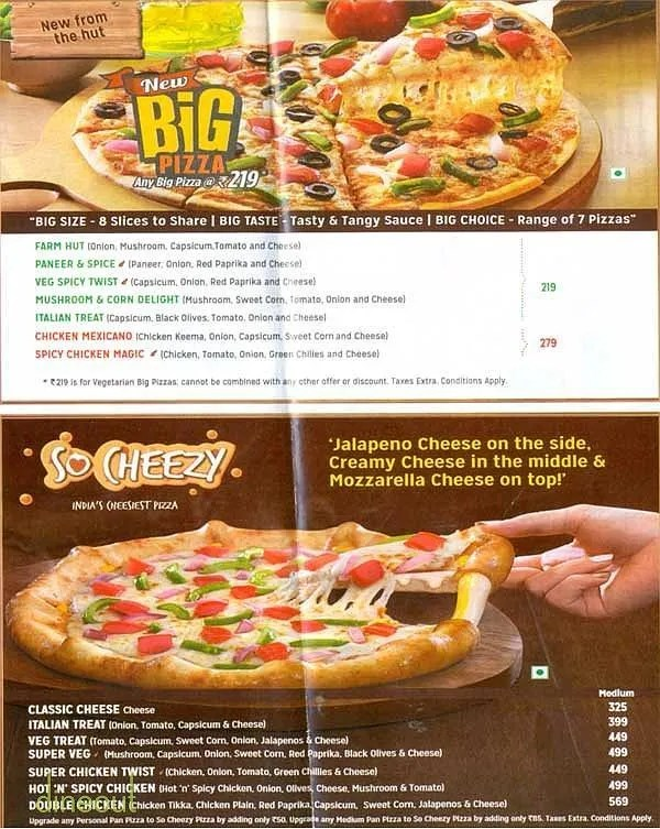 Debonair Pizza Mall Shimla Dineout Discovery Pizza Hut Pizza Sizes Inches Philippines Pizza Hut Sizes Pizza Hut Menu Pizza Hut Menu Menu Prices nice food Pizza Hut Sizes