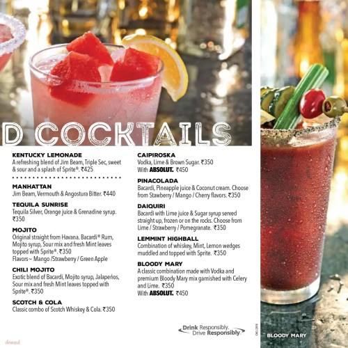 Medium Of Chilis Drink Menu