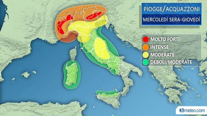 Previsioni meteo per il week end