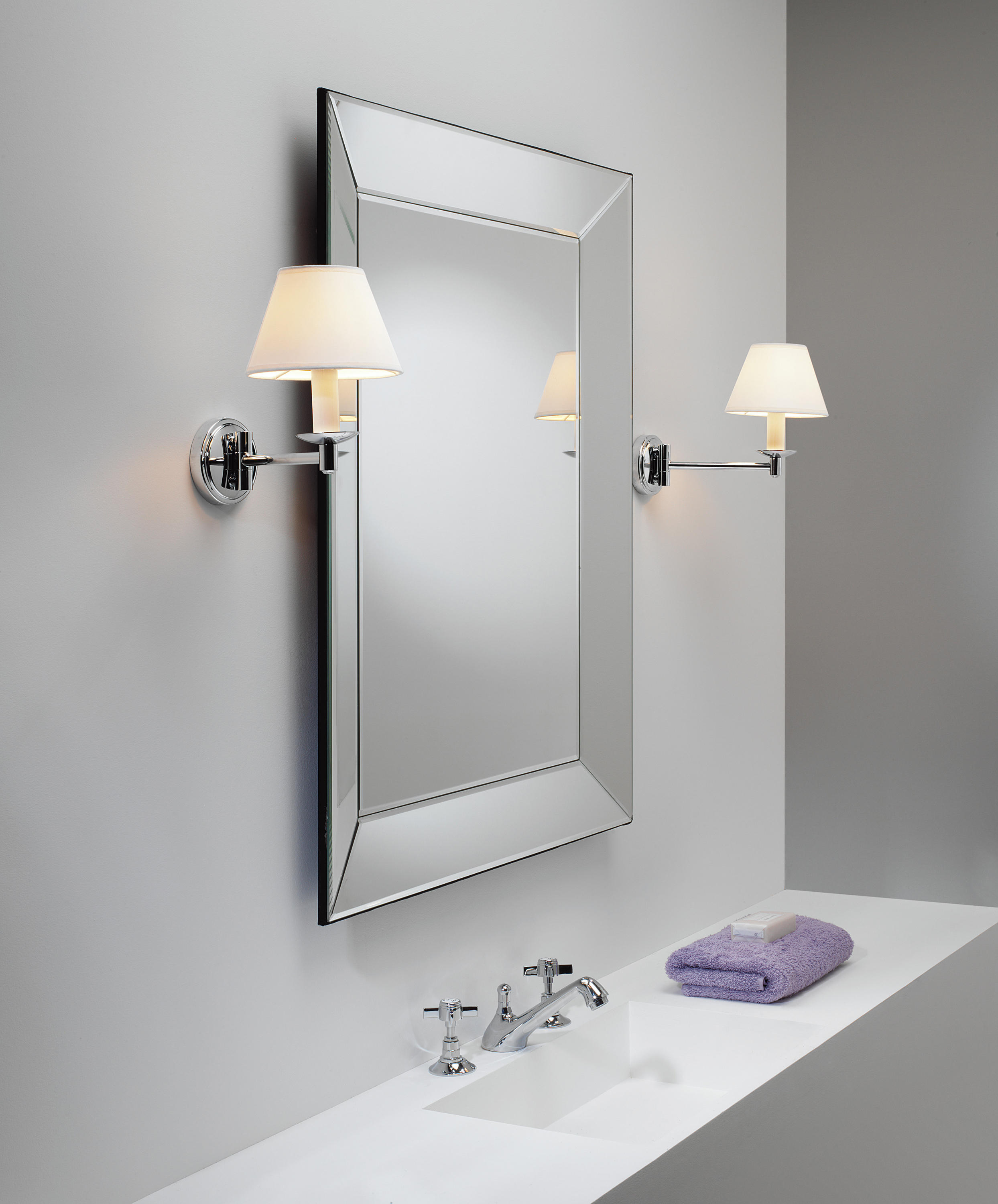 bathroom lighting design ideas double light sconces in brushed of 2