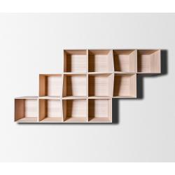Small Crop Of Wooden Shelves On Wall