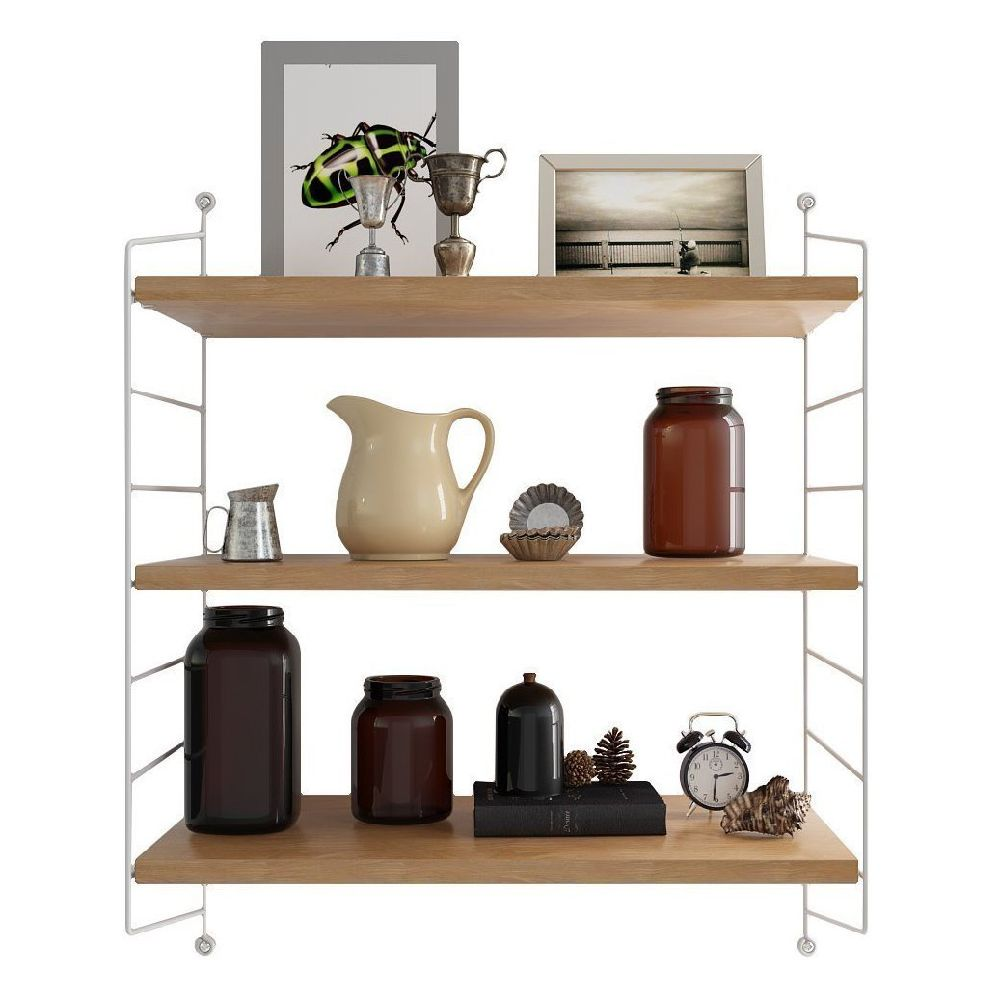 Voguish Wall Ladders To Wall Design Floating Wall Mount Shelves Display Shelves Can Be Adjusted Withone Apply To Cafe Warehouse Shop interior Three Tier Wall Shelf