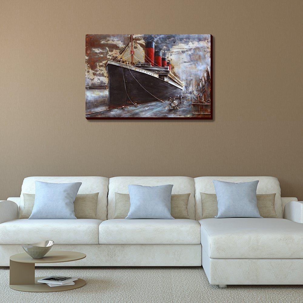 Astounding Bye Felicia Asmork 3d Metal Art 100 Handmade Metal Wall Art Stereograph Oil Painting Home Decor Ready To Hang Sculpture Artwork Ship 30 X 20 Inches Wall Art Ideas Wall Art art Unique Wall Art